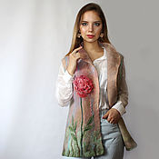 Одежда handmade. Livemaster - original item Vest felted rose Morning!. Handmade.