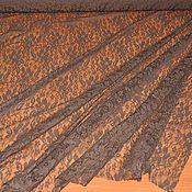 Кружево ручной работы. Ярмарка Мастеров - ручная работа Кружево коричневое гипюровое стрейч, Италия. Handmade.