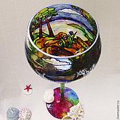 """Для дома и интерьера ручной работы. Ярмарка Мастеров - ручная работа Ваза-подсвечник """"Радужный мир"""". Handmade."""