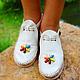 """Обувь ручной работы. Ярмарка Мастеров - ручная работа. Купить Белые кожаные сандалии """"White Sand"""". Handmade. Белый"""