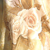"""Одежда ручной работы. Ярмарка Мастеров - ручная работа Авторская блуза-туника """"Розы нежные"""" - батик, шёлк. Handmade."""