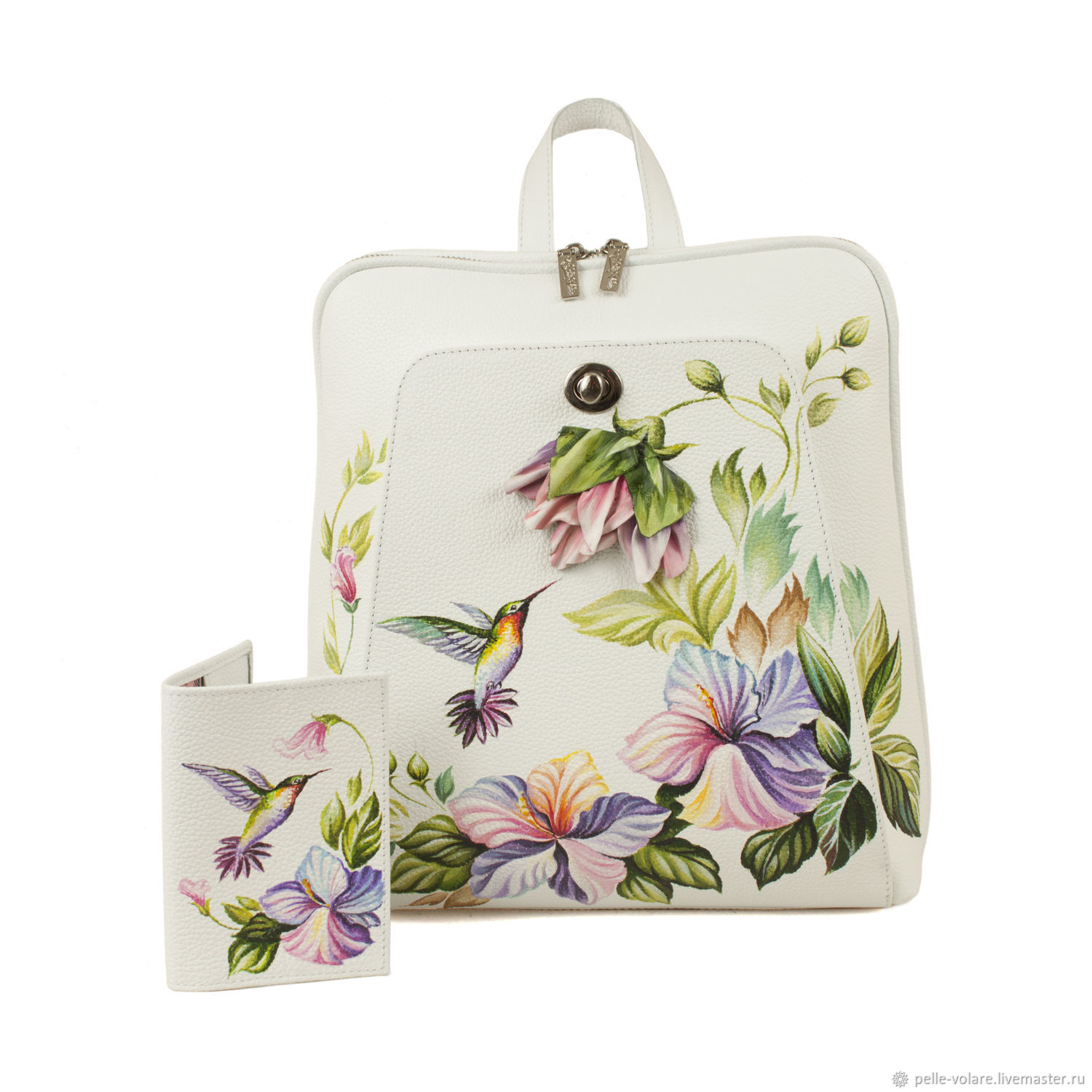 Flat backpack 'Flight of the hummingbird' Cover as a gift, Backpacks, St. Petersburg,  Фото №1