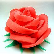 """Работы для детей, ручной работы. Ярмарка Мастеров - ручная работа шапка из поролона """"Роза"""". Handmade."""