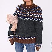 Одежда ручной работы. Ярмарка Мастеров - ручная работа Исландский свитер из ровницы. Handmade.