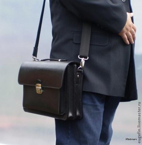 кожаная сумка мужская фото