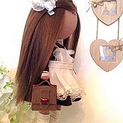 Тыквоголовка ручной работы. Ярмарка Мастеров - ручная работа Кукла Школьница. Handmade.