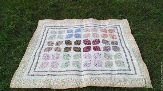 """Текстиль, ковры ручной работы. Ярмарка Мастеров - ручная работа. Купить Лоскутное одеяло для маленькой принцессы """"Бабочки"""". Handmade. Разноцветный"""