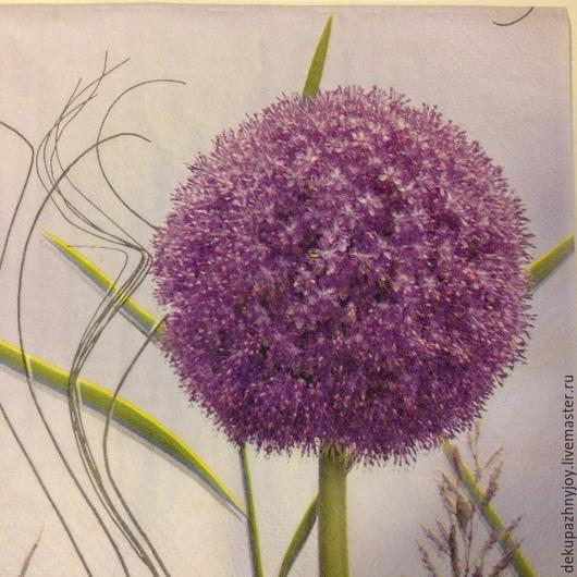 Фиолетовый одуванчик  - очень редкая салфетка для декупажа Декупажная радость