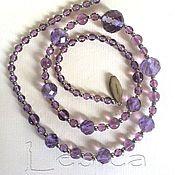 Винтаж handmade. Livemaster - original item Beads amethyst England. Handmade.