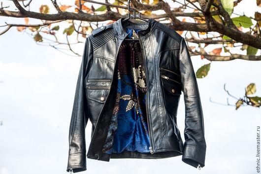 Верхняя одежда ручной работы. Ярмарка Мастеров - ручная работа. Купить Куртка из натуральной кожи . Кожаная куртка. Handmade. Черный