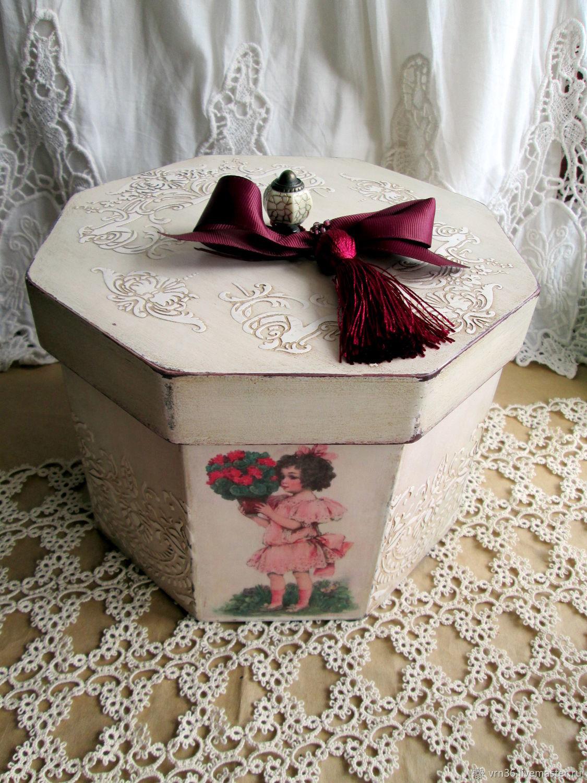 Baskets & Boxes handmade. Livemaster - handmade. Buy Box storage Vintage.Box, Box for trifles, texture paste