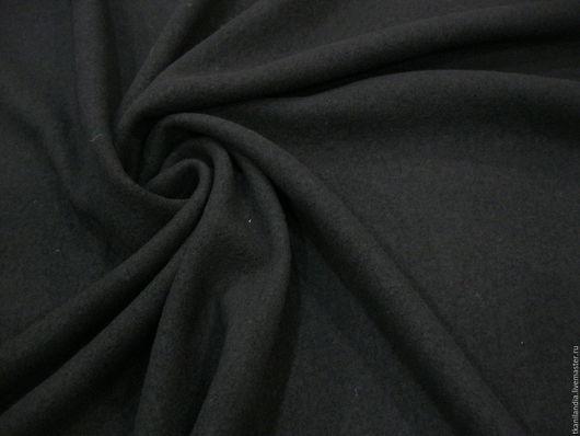 Шитье ручной работы. Ярмарка Мастеров - ручная работа. Купить Итальянский лоден.. Handmade. Черный, толстый лоден, тканиландия, пальтовка