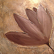 """Картины и панно ручной работы. Ярмарка Мастеров - ручная работа """"В коричневых тонах"""" Рельефная модульная картина. Handmade."""