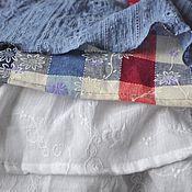 Одежда ручной работы. Ярмарка Мастеров - ручная работа Юбка из хлопка с воланами. Handmade.