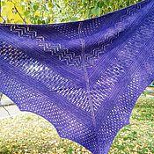 Шали ручной работы. Ярмарка Мастеров - ручная работа Вязаная ажурная шаль. Handmade.