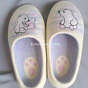 """Обувь ручной работы. Ярмарка Мастеров - ручная работа валяные тапочки """"Умка"""" женские валяные тапочки. Handmade."""