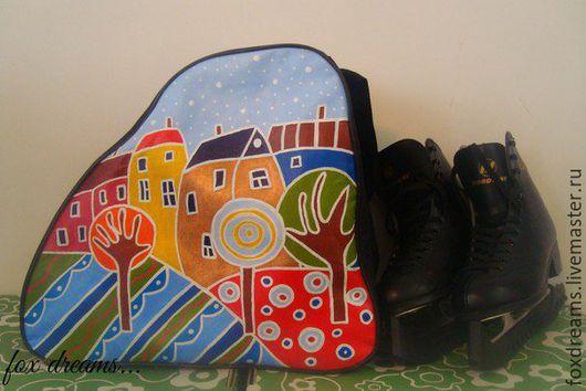 Спортивные сумки ручной работы. Ярмарка Мастеров - ручная работа. Купить Сумка с росписью для роликов и коньков. Handmade. Комбинированный