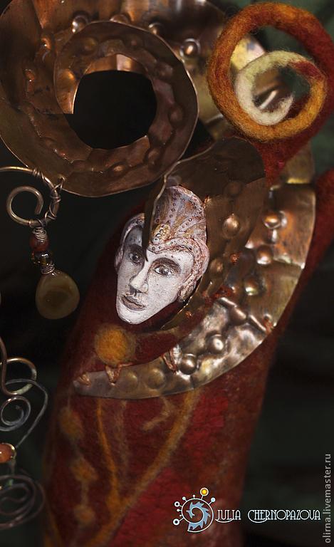 """Коллекционные куклы ручной работы. Ярмарка Мастеров - ручная работа. Купить """"Стихиаль огня"""" декоративная кукла. Handmade. Декор для интерьера"""