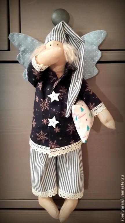 Куклы Тильды ручной работы. Ярмарка Мастеров - ручная работа. Купить Сонный ангел Рождества. Handmade. Сонный ангел, тильда