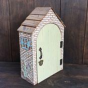 Для дома и интерьера handmade. Livemaster - original item Key holders wall: house. Handmade.