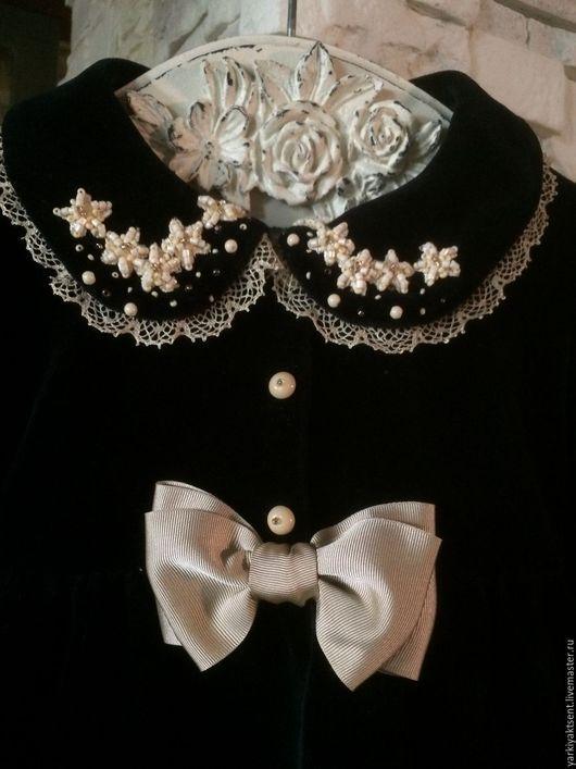 Одежда для девочек, ручной работы. Ярмарка Мастеров - ручная работа. Купить Платье ПЛТН 1020. Handmade. Тёмно-синий