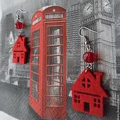 Серьги «Городские мотивы - домики» (второй вариант). Лондон