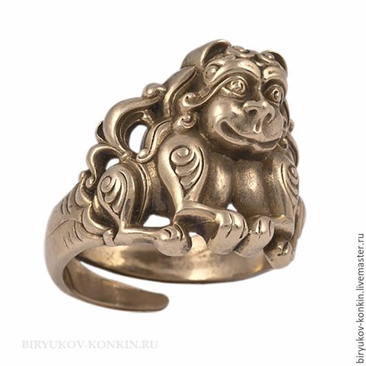 """Кольца ручной работы. Ярмарка Мастеров - ручная работа. Купить Латунное кольцо """"Львы""""/кольцо из латуни. Handmade. Кольцо, украшение"""