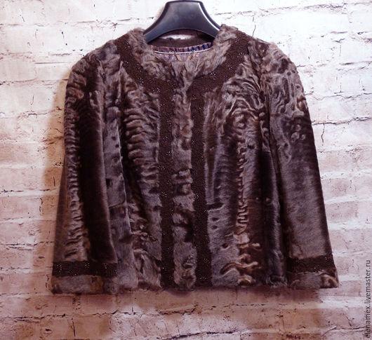 Верхняя одежда ручной работы. Ярмарка Мастеров - ручная работа. Купить Жакет из афганского каракуля. Handmade. Разноцветный, новая работа
