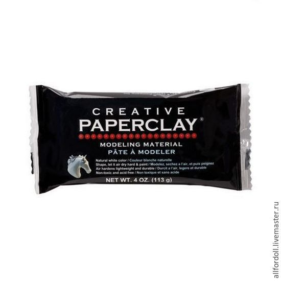 Paperclay Creative 113 гр, Материалы для кукол и игрушек, Москва,  Фото №1