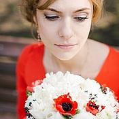 Одежда ручной работы. Ярмарка Мастеров - ручная работа Крассное свадебное платье. Handmade.