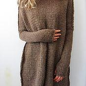 Одежда ручной работы. Ярмарка Мастеров - ручная работа Оверсаз коричневый. Handmade.