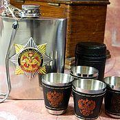 Сувениры и подарки handmade. Livemaster - original item Flask with symbols of RUSSIA