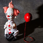 """Куклы и пупсы ручной работы. Ярмарка Мастеров - ручная работа """"Оно"""". Пеннивайз - танцующий клоун.. Handmade."""