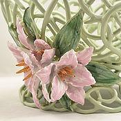 Посуда handmade. Livemaster - original item Elephant Pink lilies. Handmade.