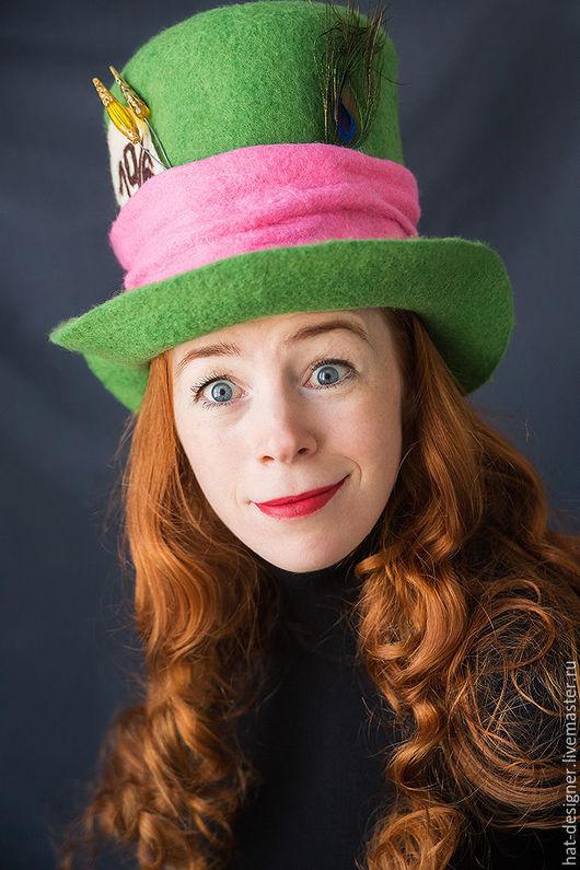 """Аксессуары для фотосессий ручной работы. Ярмарка Мастеров - ручная работа. Купить Арт-шляпа """"Безумный шляпник"""". Handmade. Ярко-зелёный"""