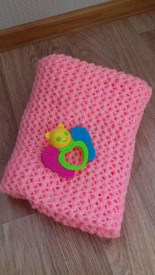 Текстиль, ковры ручной работы. Ярмарка Мастеров - ручная работа. Купить Ажурный плед для девочки. Handmade. Кремовый, покрывало в детскую