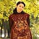 """Платья ручной работы. Ярмарка Мастеров - ручная работа. Купить Валяное платье""""Шоколадный кураж"""". Handmade. Коричневый, одежда из войлока"""