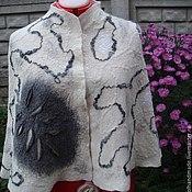 Одежда handmade. Livemaster - original item cloak of wool on the grounds of stole the Beginning of winter. Handmade.