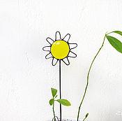 Цветы и флористика ручной работы. Ярмарка Мастеров - ручная работа Солнце. Декор в цветочный горшок. Handmade.