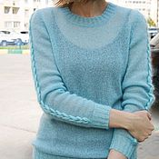 Одежда handmade. Livemaster - original item Sweater mohair icicle. Handmade.