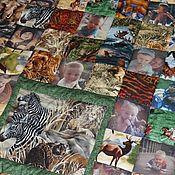 Для дома и интерьера ручной работы. Ярмарка Мастеров - ручная работа Детское одеяло с фотографиями «Маугли» № 329. Handmade.