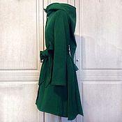 Пальто ручной работы. Ярмарка Мастеров - ручная работа «Эльфийское» пальто из шерсти без утеплителя. Handmade.