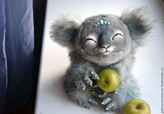 """Куклы и игрушки ручной работы. Ярмарка Мастеров - ручная работа. Купить неземная """"коала"""". Handmade. Серый, авторская ручная работа"""