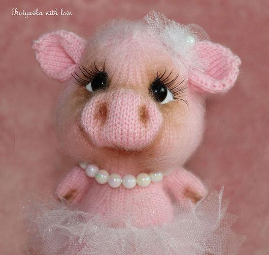 Игрушки животные, ручной работы. Ярмарка Мастеров - ручная работа. Купить Пенелопа милая свинка (хрюшка). Handmade. Розовый, хрюша