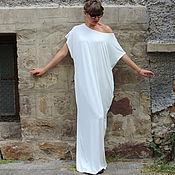 Одежда ручной работы. Ярмарка Мастеров - ручная работа Цвет слоновой кости пляжное летнее макси платье, кафтан, абайя. Handmade.