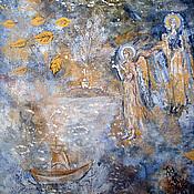 Картины и панно ручной работы. Ярмарка Мастеров - ручная работа Акрил, акварель. Ангелы.. Handmade.
