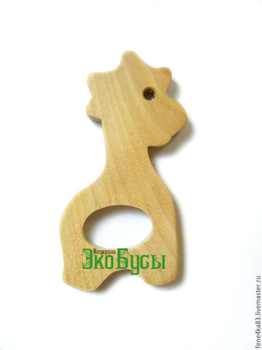 """Для украшений ручной работы. Ярмарка Мастеров - ручная работа. Купить Грызунок деревянный """"Жираф"""". Handmade. Жираф, грызунок деревянный"""