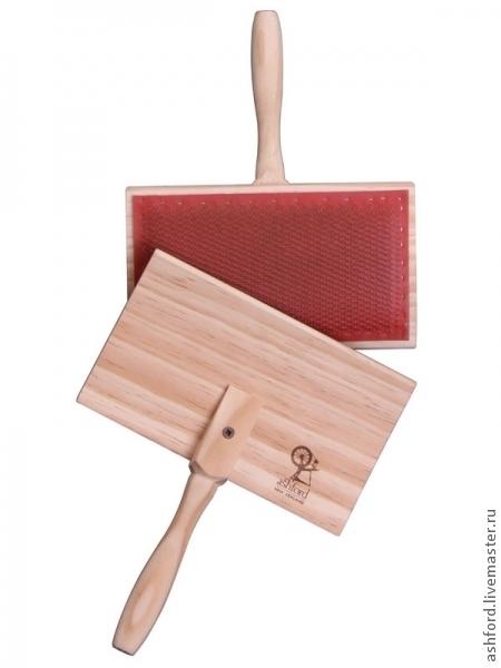 Валяние ручной работы. Ярмарка Мастеров - ручная работа. Купить Большие ручные карды для тонких волокон, пара. Handmade. Кардер