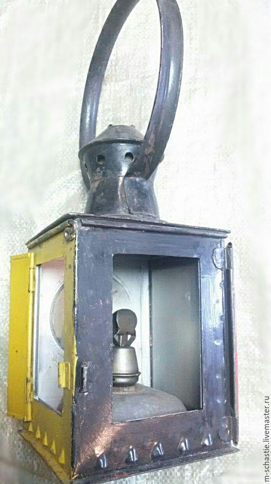 Подсвечники ручной работы. Ярмарка Мастеров - ручная работа. Купить Фонарь  железнодорожный 1950г.. Handmade. Черный, ретро фонарь