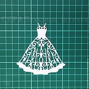 Вырубки для скрапбукинга ручной работы. Ярмарка Мастеров - ручная работа Вырубка для скрапбукинга Платье ажурное. Handmade.